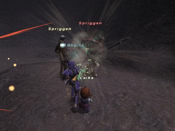 Spriganと戦闘ちゅ