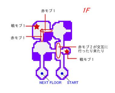 テメナス北1Fの簡易マップ